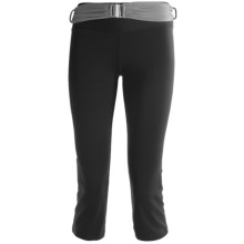Body Up Om Capris Tights (For Women) in Black/Silver - Closeouts