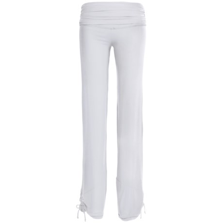 Body Up Yoga Strings Pants (For Women) in White