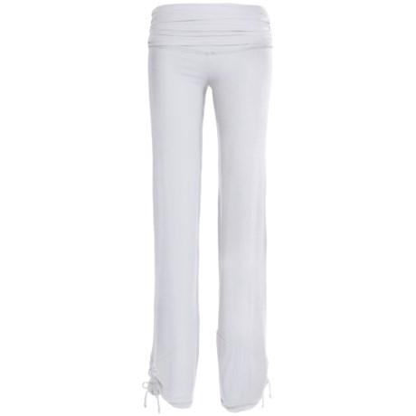 Body Up Yoga Strings Pants (For Women) in White
