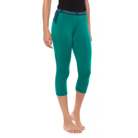 BodyFit Zone Base Layer Capri Bottoms - Merino Wool (For Women) thumbnail