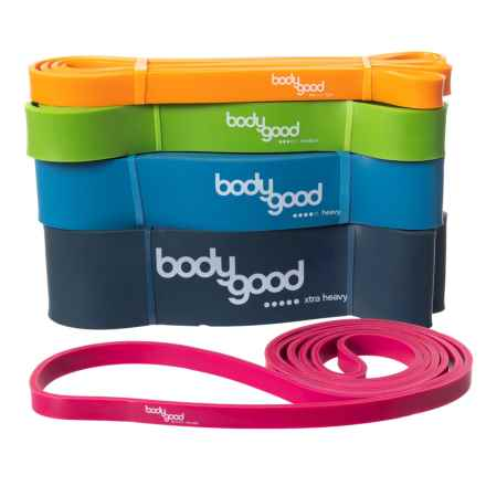 BodyGood Pull-Up Resistance Bands - Set of 5 in See Photo