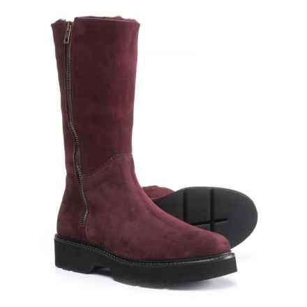 Boemos Double-Zip Shearling Boots - Suede (For Women) Made in Italy in Bordeaux - Closeouts