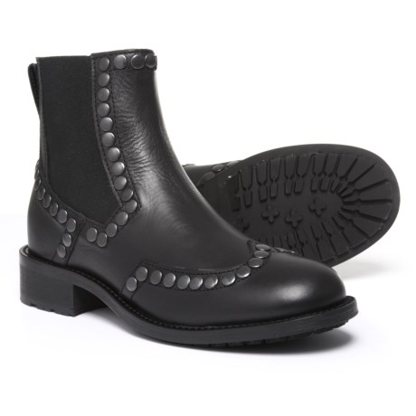 Boemos Made in Italy Studded Chelsea Boots - Leather (For Women) Made in Italy in Black