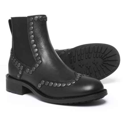Boemos Studded Chelsea Boots - Leather (For Women) Made in Italy in Black - Closeouts