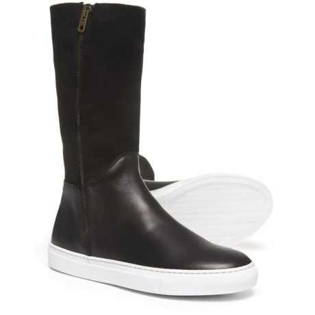 bf27d11baf2c Boemos Vulcanized Boots - Leather (For Women) Made in Italy in Black