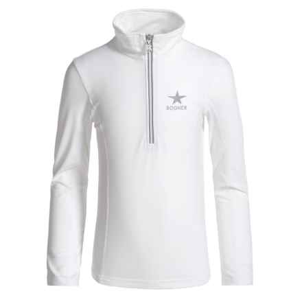 Bogner Ada Base Layer Top - Zip Neck, Long Sleeve (For Girls) in White - Closeouts