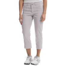 Bogner Analiz Techno Stretch Golf Capris (For Women) in Light Grey - Closeouts