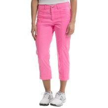 Bogner Analiz Techno Stretch Golf Capris (For Women) in Pink - Closeouts