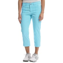 Bogner Analiz Techno Stretch Golf Capris (For Women) in Turquoise - Closeouts