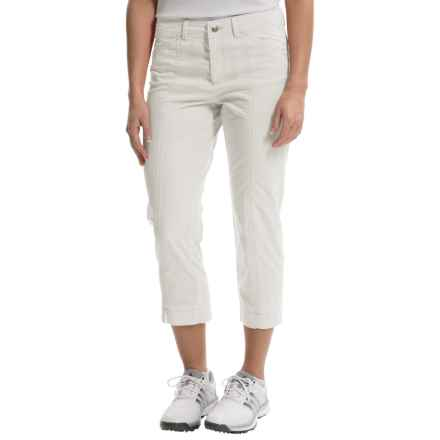 Bogner Analiz Techno Stretch Golf Capris (For Women) in White - Closeouts