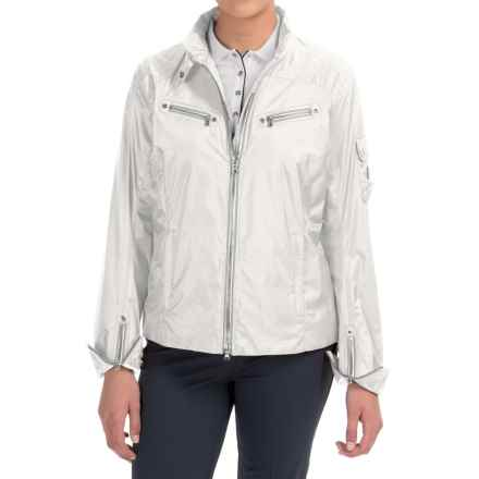 Bogner Baika Crop Golf Jacket (For Women) in White - Closeouts