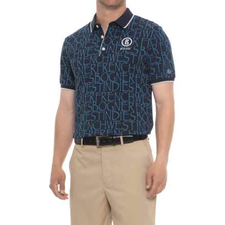 Bogner Barry Golf Polo Shirt - Short Sleeve (For Men) in Blue - Closeouts