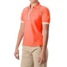 Bogner Coco Print Polo Shirt - Short Sleeve (For Women) in Orange - Closeouts