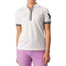 Bogner Coco Print Polo Shirt - Short Sleeve (For Women) in White - Closeouts