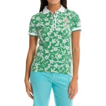Bogner Coco Ratti Jersey Golf Polo Shirt - Short Sleeve (For Women) in Green/White - Closeouts