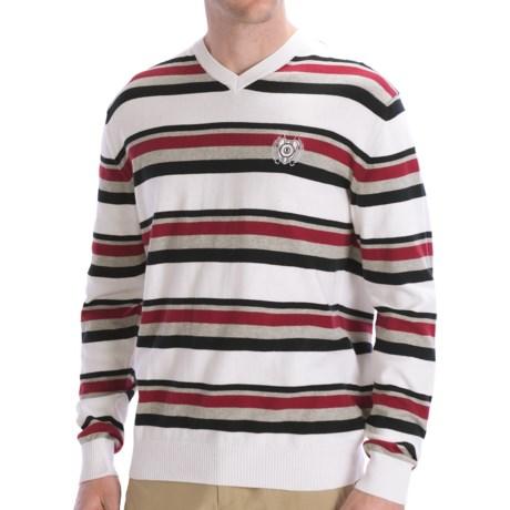 Bogner Cotton Golf Sweater - Long Sleeve (For Men) in White