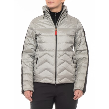 80fb64dca9e6 Bogner Danea-D Down Ski Jacket with Hidden Hood (For Women) in Silver