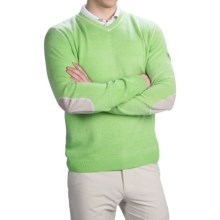 Bogner Davi Cashmere Golf Sweater (For Men) in Green - Closeouts