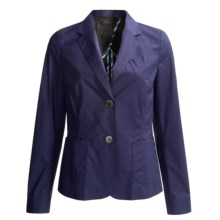 Bogner Eartha Stretch Cotton Blazer (For Women) in Blueberry - Closeouts