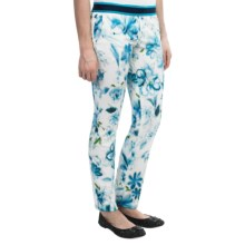 Bogner Elly Printed Stretch Pants (For Women) in White/Blue Patterend - Closeouts