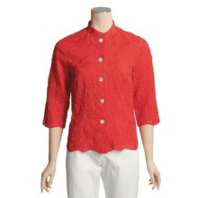 Bogner Embroidered Linen Elly-I Shirt - 3/4 Sleeve (For Women) in Red - Closeouts