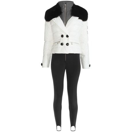 Bogner Emma Ski Suit - 2-Piece, Down, Soft Shell (For Women) in 001 White/Black