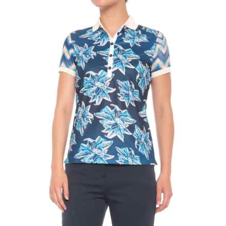 Bogner Emmie Polo Shirt - Short Sleeve (For Women) in Blue - Closeouts