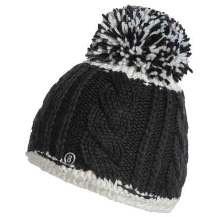 Bogner Erla Pom Hat - Virgin Wool Blend (For Women) in Black - Closeouts