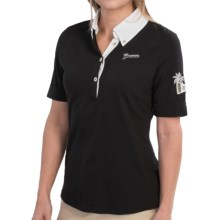 Bogner Estrelle Golf Polo Shirt - Cotton-Nylon Pique, Short Sleeve (For Women) in Black - Closeouts