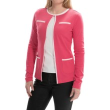 Bogner Fabula Cotton Knit Cardigan - Long Sleeve (For Women) in Pink - Closeouts