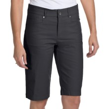 Bogner Fini-G Techno-Stretch Gabardine Golf Shorts (For Women) in Black - Closeouts