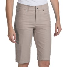 Bogner Fini-G Techno-Stretch Gabardine Golf Shorts (For Women) in Champagne - Closeouts