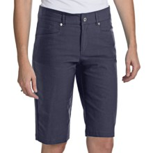 Bogner Fini-G Techno-Stretch Gabardine Golf Shorts (For Women) in Navy - Closeouts