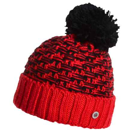 Bogner Fire + Ice Gia Pom Hat - Virgin Wool Blend (For Women) in Fire Red - Closeouts
