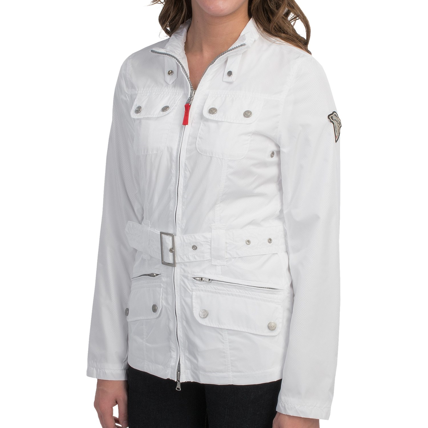 bogner fire and ice ava nylon jacket for women in white p 8259a 02. Black Bedroom Furniture Sets. Home Design Ideas