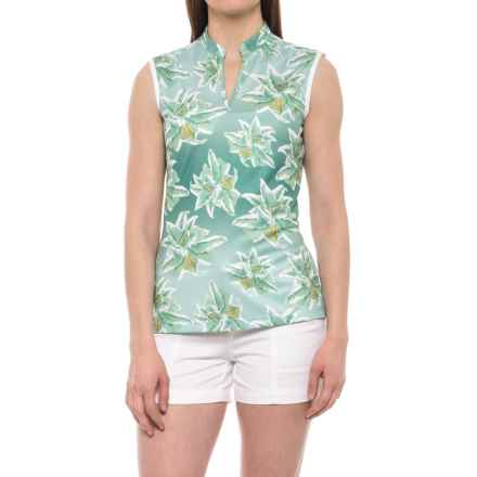 Bogner Flora Golf Shirt - Sleeveless (For Women) in Blossom Mint - Closeouts