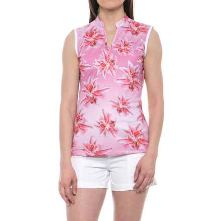 Bogner Flora Golf Shirt - Sleeveless (For Women) in Blossom Pink - Closeouts