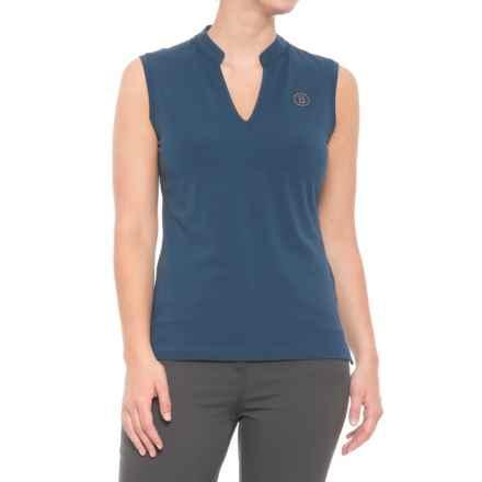 Bogner Flora Golf Shirt - Sleeveless (For Women) in Blue - Closeouts