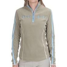 Bogner Geri Fleece Pullover Jacket - Zip Neck (For Women) in Olive - Closeouts