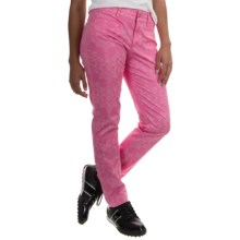 Bogner Gina-G Printed Golf Pants (For Women) in Magenta - Closeouts