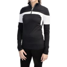 Bogner Glow Shirt - Zip Neck, Long Sleeve (For Women) in Black - Closeouts
