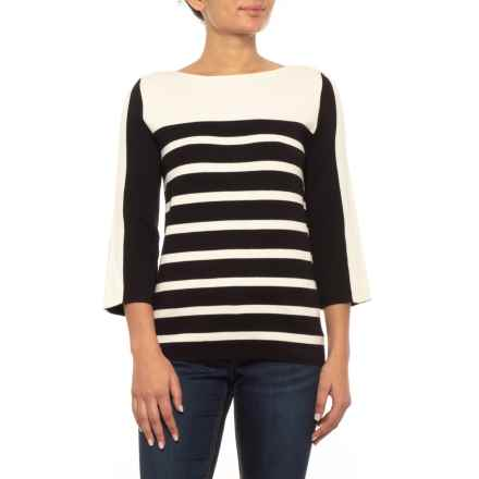 Bogner Janika Sweater - Scoop Neck, 3/4 Sleeve (For Women) in Black - Closeouts