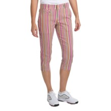 Bogner Joss-G Golf Capris (For Women) in Candy Stripe - Closeouts