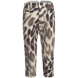 Bogner Joss-G Stretch Gabardine Golf Capris (For Women) in Leopard Print