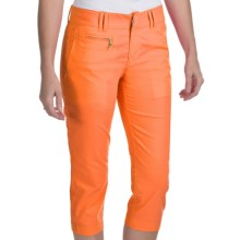 Bogner Joss-G Techno-Stretch Gabardine Golf Capris (For Women) in Orange - Closeouts