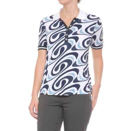 Bogner June Polo Shirt - Short Sleeve (For Women) in Blue - Closeouts