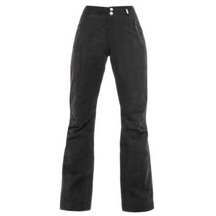 Bogner Kalina Ski Pants - Insulated (For Women) in Black Corduroy - Closeouts