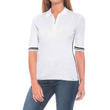 Bogner Kiana Knit Shirt - Zip Neck, Short Sleeve (For Women) in White - Closeouts