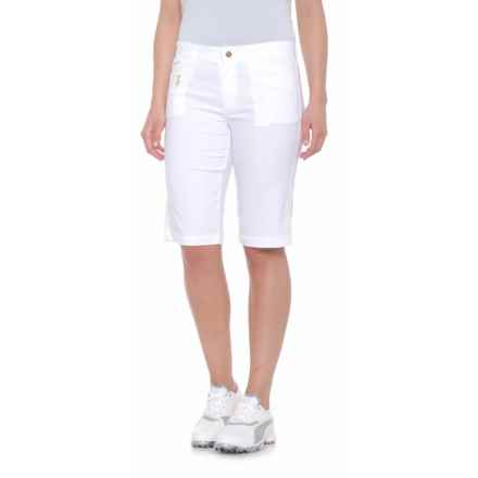 Bogner Laury2-G Bermuda Shorts (For Women) in White - Closeouts