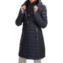 Bogner Lilia-D Long Down Ski Coat (For Women) in Navy - Closeouts